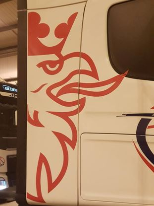 Picture of Scania large half Griffin cab edge Decals / Stickers