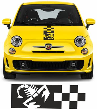 Picture of Fiat  500 / 595 Abarth Scorpion Bonnet Stripe / Sticker