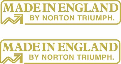 "Picture of Triumph / Norton ""made in England"" Decals / Stickers"