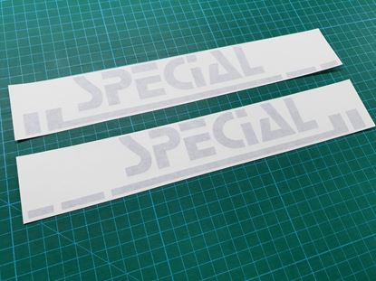 """Picture of MK2 Golf  """"Special"""" side rear Pillar restoration Decals / Stickers"""