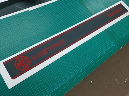 Picture of MG  Metro Turbo replacement rear hatch Decal / Sticker