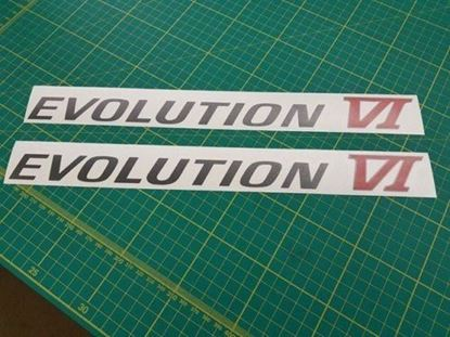 Picture of Mitsubishi Evolution 6 replacement side Decals / Stickers