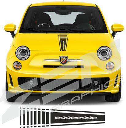 "Picture of Fiat  500 / 595  Abarth ""esseesse"" Bonnet Stripe / Sticker"