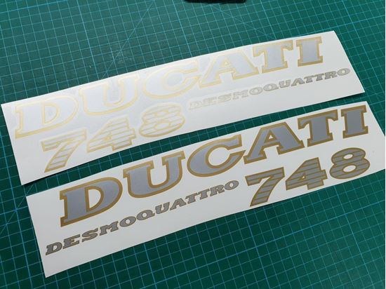 DUCATI 748 Side Fairing Decals / Stickers
