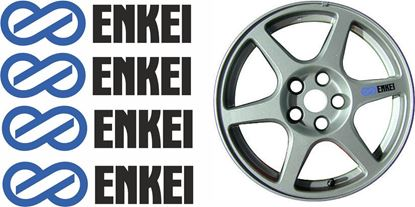 "Picture of Mitsubishi Evolution 7 / 8 / 9 replacement ""Enkei"" Wheel Decals / Stickers"