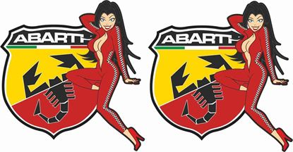 Picture of Fiat  500 / 595 Classic Style Abarth Stickers / Decals