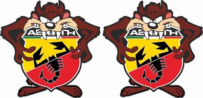 Picture of Fiat  500 / 595  Abarth Tasmanian Devil Stickers / Decals