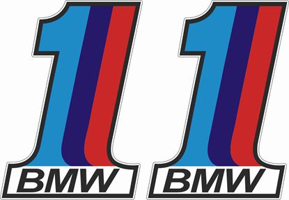 "Picture of BMW M sport ""1""  Decals / Stickers"