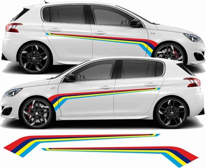 Picture of Peugeot 308 PTS Rallye Stripes / Stickers
