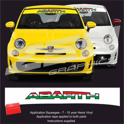 "Picture of ""Abarh "" Italia Sunstrip  / Sticker"
