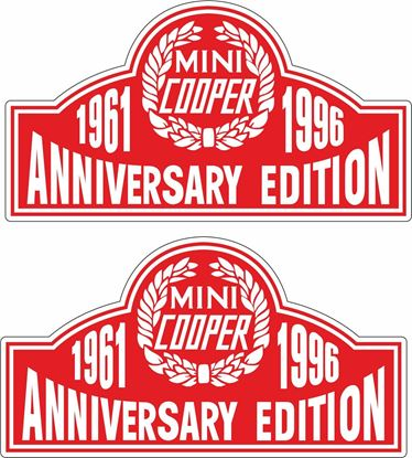 Picture of Mini Cooper Anniversary Edition Decals / Stickers