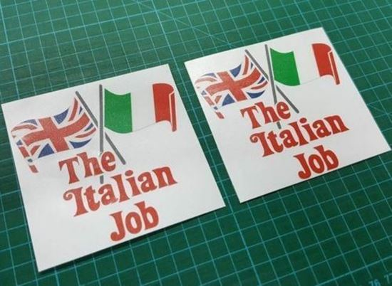 "Picture of Mini ""The Italian Job"" Decals / Stickers (Red)"