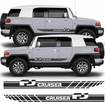 Picture of Toyota FJ Cruiser side Stripes  / Stickers