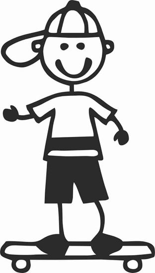 """Picture of My Stick Family  """"Son""""  Figure  Sticker"""