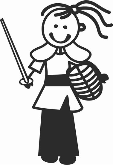 """Picture of My Stick Family  """"Daughter""""  Figure  Sticker"""