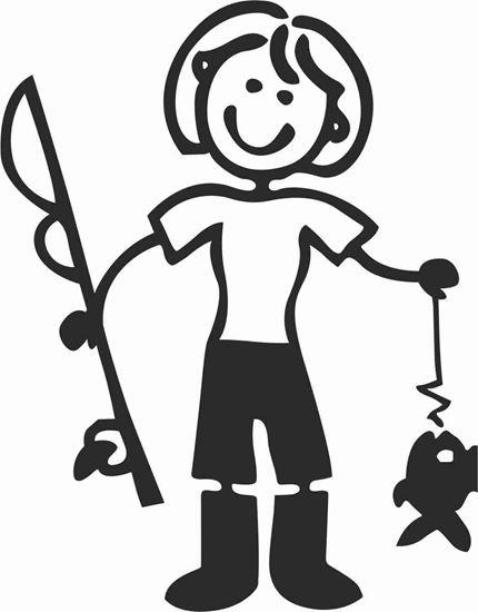 "Picture of My Stick Family  ""Mum""  Figure  Sticker"