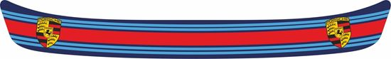 "Picture of ""Porsche Martini"" Helmet Visor Strip"