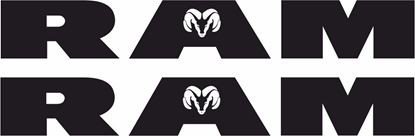 "Picture of Dodge ""Ram"" Decals  / Stickers"