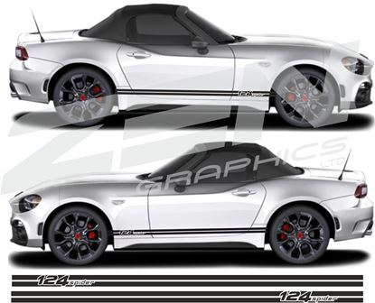 Picture of Fiat 124 Spider side stripes  / Stickers