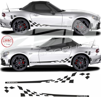 "Picture of Fiat 124 Spider ""Abarth"" side Chequer  / Stickers"