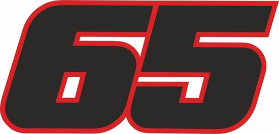 "Picture of ""65"" Jonathan Rea Track and street race nose cone number Decal / Sticker"