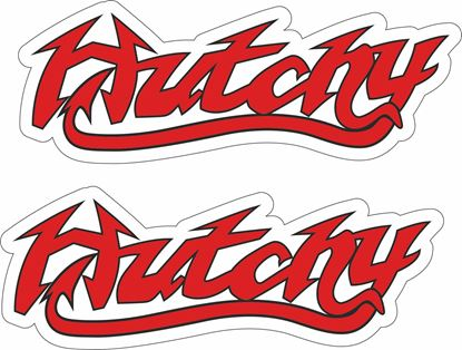"Picture of ""Hutchy"" Ian Hutchinson Track and street race sponsor logo"