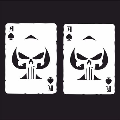 Picture of Ace of Clubs Punisher Decals / Stickers