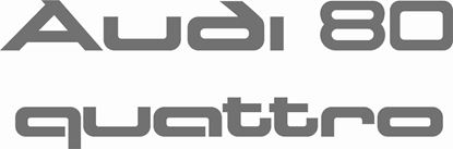 Picture of Audi B2 80 Quattro  replacement rear hatch lid Decals / Stickers