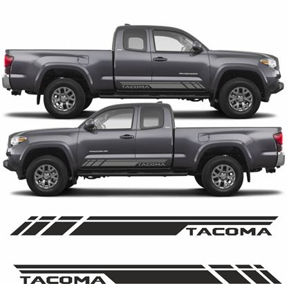 "Picture of Toyota Tacoma Double Cab  ""Tacoma"" side stripes / Stickers"