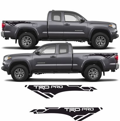 "Picture of Toyota Tacoma ""TRD Pro"" side bed graphics / Stickers"
