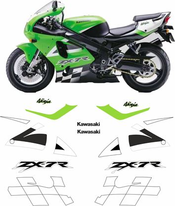 Picture of Kawasaki ZX -7R 2002 replacement Decals / Stickers