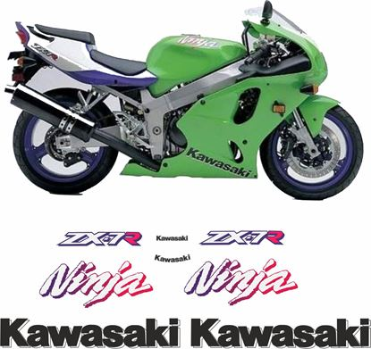 Picture of Kawasaki ZX-7R 1997 replacement Decals / Stickers