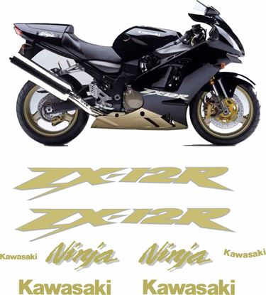 Picture of Kawasaki ZX-12R 2004 replacement Decals / Stickers