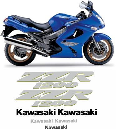 Picture of Kawasaki ZZR 1200 ZZ-R  2004  Replacement Decals / Stickers