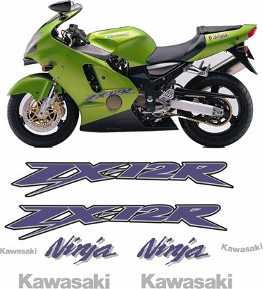 Picture of Kawasaki ZX-12R 2002 - 2005 replacement Decals / Stickers