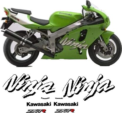 Picture of Kawasaki ZX -7R  1998 replacement Decals / Stickers