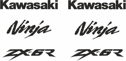 Picture of Kawasaki ZX-6R 2000  replacement Decals / Stickers