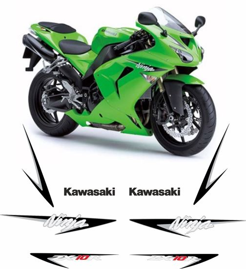 Picture of Kawasaki ZX -10R Ninja  2007 replacement Decals / Stickers