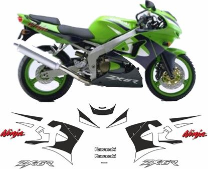 Picture of Kawasaki ZX-6R Ninja 1999  replacement Decals / Stickers