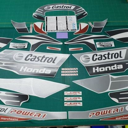 Picture of Honda CBR 1000RR 2011 Team Castrol superbike Custom Decals / Stickers