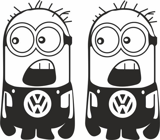 Picture of Minion VW  general panel  Decals /Stickers