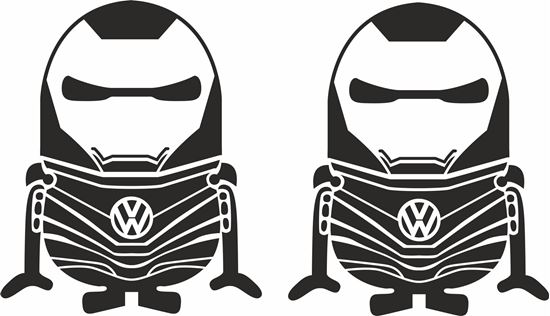 Picture of Minion VW  Iron Man general panel  Decals /Stickers