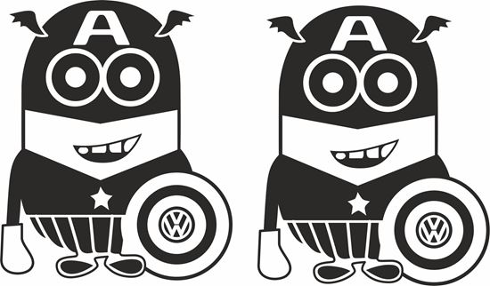 Picture of Minion VW  Captin America general panel  Decals /Stickers