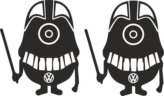 Picture of Minion VW  Darth Vader general panel  Decals /Stickers