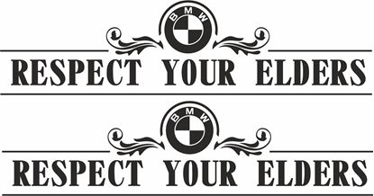 "Picture of BMW M sport ""Respect your elders""  Decals / Stickers"