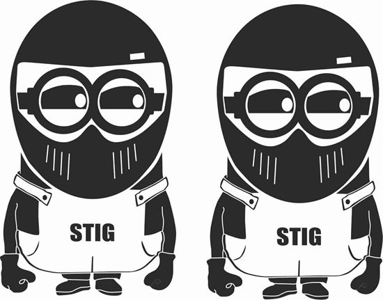 """Picture of """"Stig"""" Minion JDM Decals / Stickers"""