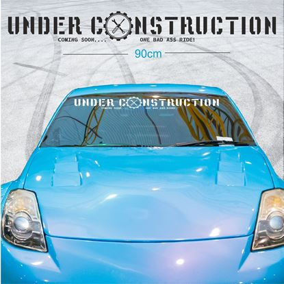 "Picture of ""Under Construction Coming soon..."" Screen Decal / Sticker"