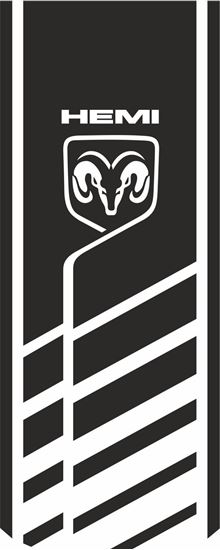 Picture of Dodge Ram Hemi  Hood  Decal / Sticker