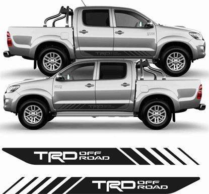 Picture of Toyota Hilux TRD Pro side graphics / Stickers