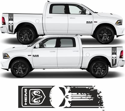 Picture of Dodge Ram Hemi Punisher Side bed Stripes  / Stickers